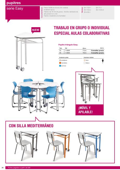 Catalogo mobiliario escolar de infantil primaria y for Mobiliario para planos