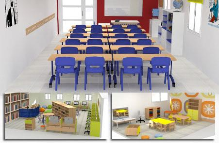 Hermex wesco mobiliario escolar infantil equipamiento for Mobiliario escolar medidas