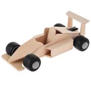 Coche de carreras con motor de muelle