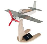 Avión de aluminio con hélice solar