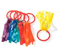 Asas con cinta  cintas cortas lote de 6