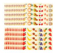 Gomets imágenes  las frutas lote de 720