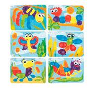 Fichas de actividades plastificadas para mosaicos pequeños pinchos lote de 6