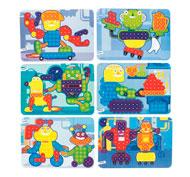 Fichas de actividades plastificadas para mosaicos pinchos medianos lote de 6