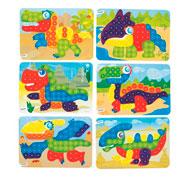 Fichas de actividades plastificadas para mosaicos grandes pinchos lote de 6