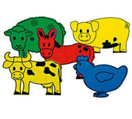 Decoraciones animales gigantes la granja
