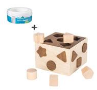 Pack d - 54 recargas Sangenic+ caja de formas madera 54 unid.