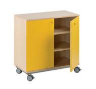 Mueble b+ruedas 2 estant. puerta