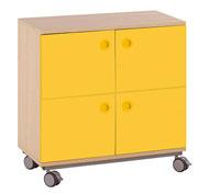 Mueble b. + ruedas 4 puertas y 4 casillas