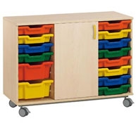 Mueble alfa nº3  1 puerta +14 cubetas(según foto catalogo)