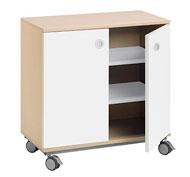 Mueble b. combi +ruedas 2 estant. puerta