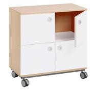 Mueble b combi +ruedas 4 puertas  y 4 casillas