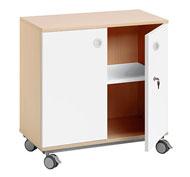 Mueble b. combi +ruedas 1 estant. puerta  + cerradura