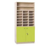 Maxi armario 2 puertas y 18 casillas con cerradura