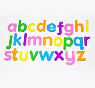 26 letras translúcidas minúsculas 26 piezas