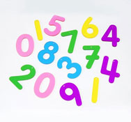 Números translúcidas arco iris 14 piezas