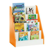 Biblioteca white expositor de libros mediano
