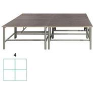 Tarima scenic cuadrada 5,76m2 (4 modulos) conjunto de 4