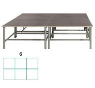 Tarima scenic  rectangular 8,64m2 (6 modulos) conjunto de 6