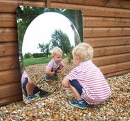 Espejo gigante de exterior convexo