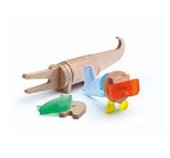 Construcción fauna imaginaria cocodrilo + león set 15 piezas