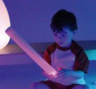Bastón sensorial con luz