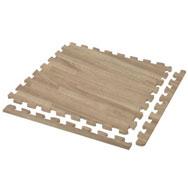 Set 4  losetas eva efecto madera de roble oscuro 50 x50 cm set de 4 losetas.