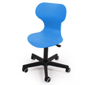 Easy chair adjustable in height size Easy MooVE 3/4 with base and black casters.