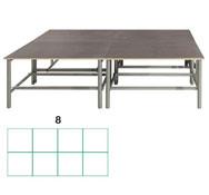 Tarima scenic  rectangular 11,52m2 (8 modulos) conjunto de 6