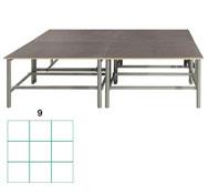 Tarima scenic  rectangular 12,96m2 (9 modulos) conjunto de 6