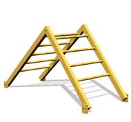 Escalera doble para grimpar