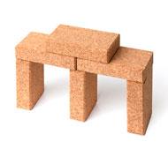 100 bloques construcción de corcho
