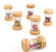 Cilindros shakers de madera Pack de 6