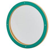 Panel de juego espejo redondo  verde