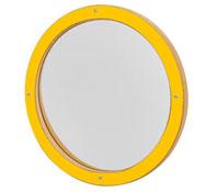 Panel de juego espejo redondo amarillo