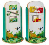 Totem de juego doble cara puzle rio - conecta 4