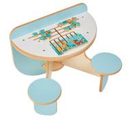Mesa de juegos duo con puzle el bosque
