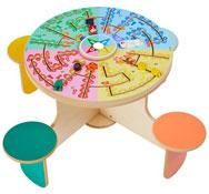 Mesa de juego cuatro el planeta