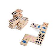 Domino gigante de madera los animales
