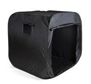 Cabaña negra pop-up grande