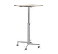 High table teacher adjustable in height. Wheel feet. Board 70 x 50