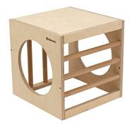 Cubo con barrotes 40x40x40 y agujeros en 2 caras