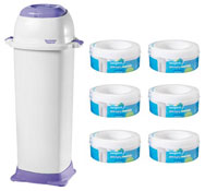 Pack de bienvenida - higiene  contenedor maxi con 7 recarga 7 unid.