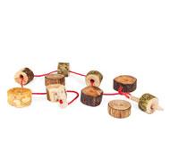 Ensartable los troncos naturales