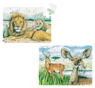 Minipuzzles animales salvajes 36 unidades