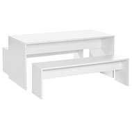 Mesa infantil White con dos bancos 130 x 65 cm  T3