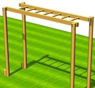 Escalera horizontal simple ps37a