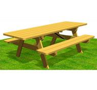 Mesa de picnic con bancos largo 2,5m tp46pmr