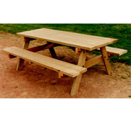 Mesa de picnic con bancos de  2m  largo tp36