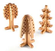 Árboles de madera  pasadores Pack de 3 unidades